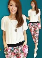 2013 summer women's fashion capris casual sportswear set Women bottoms
