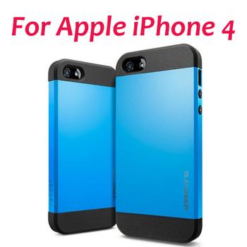 PC+Silicone Newest SGP SPIGEN SGP Slim Armor Color case for iphone 4 4S,1pcs/lot,free shipping