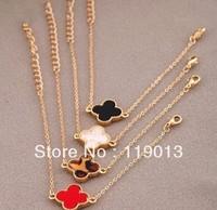 wholesale  Oil Spot Glaze Four Leaf Clover /Love Heart Bracelet free shipping