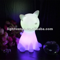 CE, RoHS and EN71 Certified LED Night dog shape Lamp