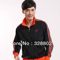 High quality 2013  Men sport suits Leisure clothing business attire Team sport suit jackets for men winter jacket men XXXL