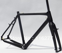 Full Carbon 3K Matt Cyclocross cross Bike V-brake BB30 Frame + Fork + Headset   Size: 51cm, 53cm, 55cm, 57cm