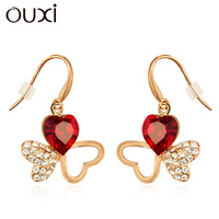 Earrings female heart austria crystal fashion unique fashion exquisite 20006 free shipping