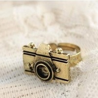 Fahion Europe vintage personality camera Rings wholesale ! free shipping!!