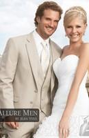 Mens wedding suits 2013 men TAN 'ALLURE' TUXEDO Slim business suits complete designer tuxedo Bridegroom suit Jacket+pant+vest