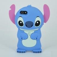 Lilo & Stitch 3D Stitch Silicone Back Case Cover for Apple iPhone 5 5G 5S  1pcs/lot