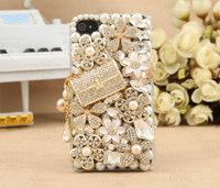 3D Bling Bling Crystal Bag and Flower Cabochons Flatback DIY Phone Case Deco Den Kit