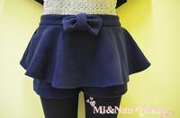Aya demin skirt sweet bow thickening shorts princess preppy style 20013 spring
