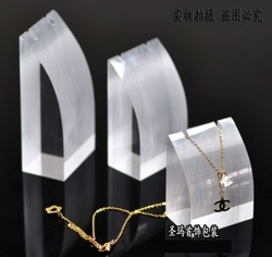 Free Shipping Acrylic Arc 3pcs Set Jewelry Showing Stand Jewelry Pendant Display Rack Necklace Display(China (Mainland))