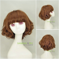 Black hair girls sweet wig fashion female fluffy short hair wig