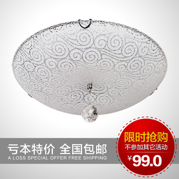 New arrival t modern brief led ceiling light crystal lamp 12w