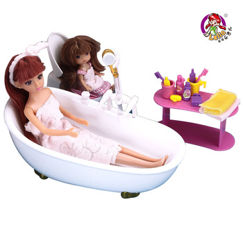Bathroom set dream bathroom water jet doll girl toys