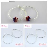 Wholesale Fashion Jewelr /Earring Making DIY Handmade Findings Accessories Metal Charm Hoop Earring Basketball Wives Dangle Drop
