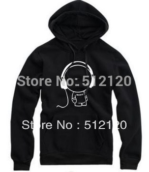 Free shipping sweatshirt for height 70--150cm high quality headphones Printed kids Hoodies headset printing Pullovers 8 Color