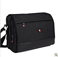 Swiss army knife man male shoulder ol business work canvas Handbags briefcase casual messenger bag