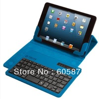 Free shipping Ultrathin Bluetooth Wireless Keyboard with leather case for PC Macbook Mac ipad 2, and the new ipad3