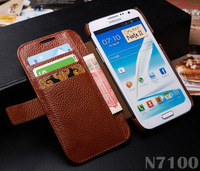Leather case For Samsung Galaxy Note 2 N7100 Wallet Case Luxury k-cool Original Designer Cover For Galaxy Note II