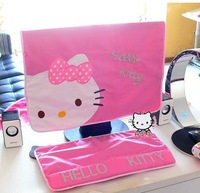 Hello Kitty computer dust cover 17-22'' screen,Keyboard dust cover /Free Shipping
