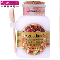 Agosdane rose body scrub cream corneous 300g bath salt exfoliating  shipping free