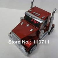 Hot sale with factory new portable truck car Shaped design Mini portable Speaker Music MP3 USB speaker with FM radio
