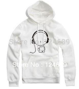 Free shipping 70-150cm Height kids hoodie headphone doll headset Printed Hoodies Leasure Pullovers 8Color