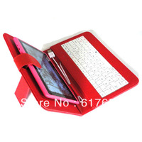 "Black USB keyboard Case+Stylus+Film+OTG For 10.1"" Visual Land Prestige 10 Tablet Free Shipping"