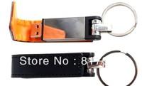 DHL FREE!100% Full Capacity VFD-4008 leather USB Flash Drive 1GB 2GB 4GB 8GB 16GB usb flash memory 2.0 free logo print