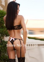 Free shipping new design 2013 women sexy  Garter & Teddies 1274 laby lingerie fashion costumes pink, red, blue, purple 4 colors