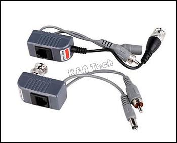 5pairs/10pcs  Cable BNC CAT5 Coax Camera CCTV Video Balun Transceiver KA2VBT20