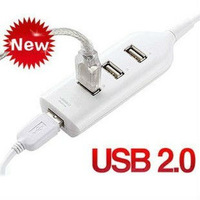 Wholesale Mini 4 Port USB Hub For Laptop PC Computer With Retail Box Free Shipping