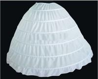 white 6 hooped wedding bridal petticoat underskirt crinoline