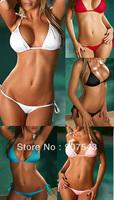 For Women Free shipping Free size Sexy 5 Color Trikini Swimsuit Swimwear Bathing Suit No Padding Bikini bra&underpants Sets BN30