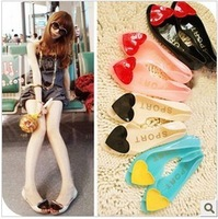 Summer heart multicolour jelly shoes open toe sandals love crystal shoes flat soft jelly sandals