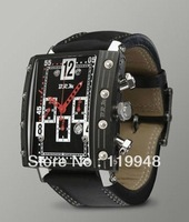 100% AUTHENTIC Chronograph BRM Titanium Chrono-Automatic Watch, Black Case mens sport watches
