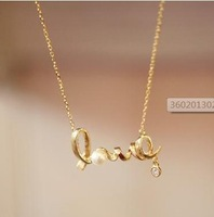 Mini Order $15 Free shipping mix order ok Valentine's Day gift love pendant necklace Beauty jewelry