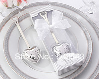 "Free shipping  45 pcs/lot ""Tea Time"" Heart Tea Infuser in Elegant White Gift Box by CPAM"
