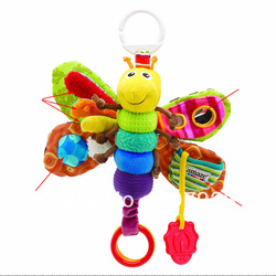 Fly Honey Bee 1pcs 12'' 30cm Musical Baby Musical Inchworm Plush toy toddler Infant kids toys Toys /Lamaze Wrist Rattles(China (Mainland))