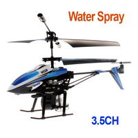 Blue Water Spray Helicopter 3.5 Channel 360 Degree Rotation RC Infrared Control,Free shipping drop shipping Wholesale
