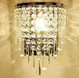 free shipping Bedroom wall lamp modern single-head bedside lamp k9 crystal wall mounted light