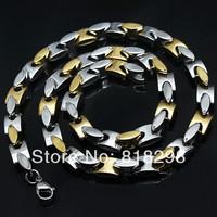 Fashion male necklace titanium steel 316l gold necklace coarse necklace tidal current male accessories