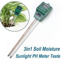 3in1 Soil Moisture Sunlight PH Meter Tester Garden Plant Flower Digital Tester