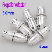 Brand New 5pcs 3.0mm RC Aluminum Bullet Propeller Adapter Holder for Brushless Motor Prop ,Freeshipping Dropshipping wholesale