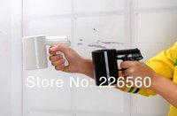 Free shipping 4Pieces Gun Mug Pistol Grip Cup Gun Handle Ceramic Coffee Mug (Black / White - U Choose)