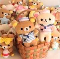 Free Shipping Kawaii 17*15 cm Various Styles Lovers Rilakkuma Doll Plush Stuffed Toy Soft Toy Birthday Gift Retail