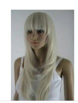 beautiful Long Blonde Long Layere women's wig wigs(China (Mainland))