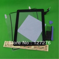 Original New For iPad 2 2nd Gen Touch Digitizer Screen Black Replacement +Plastic Frame+TOOL