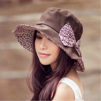 Hat female summer anti-uv sunbonnet sun beach cap big along the cap outdoor sun hat