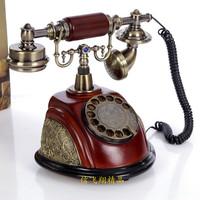 Antique telephone rustic telephone fashion resin rose antique telephone swivel plate