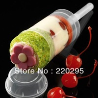 freeshipping 50pcs/lot Empty push up pop containers for cupcake shooters with lid