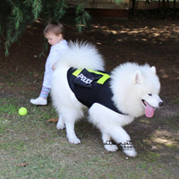 Free shipping New arrival vest police dog clothes large water-proof dogs clothing reflective of belt double pocket wellsore